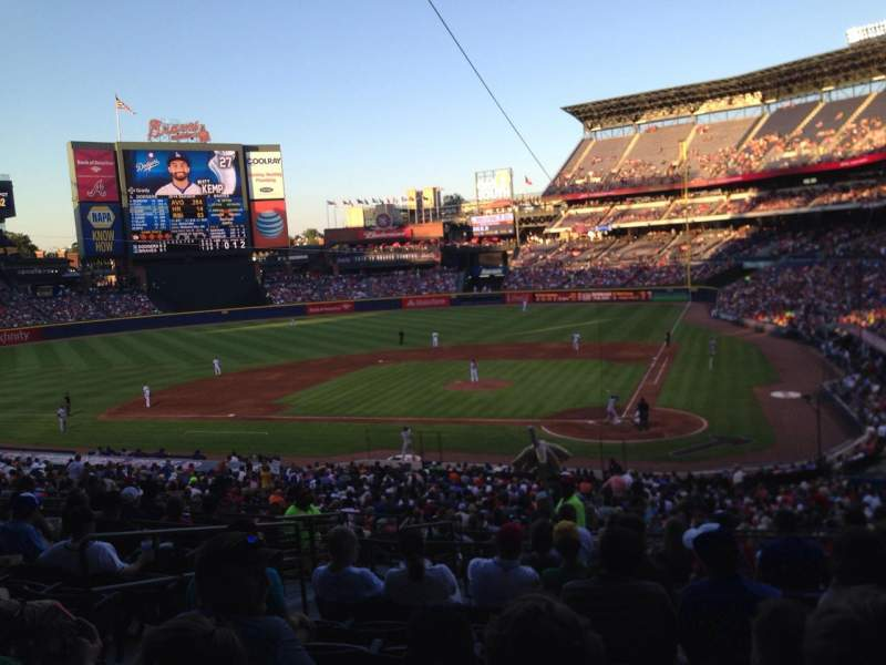 Seating view for Turner Field Section 206r Row 11 Seat 6