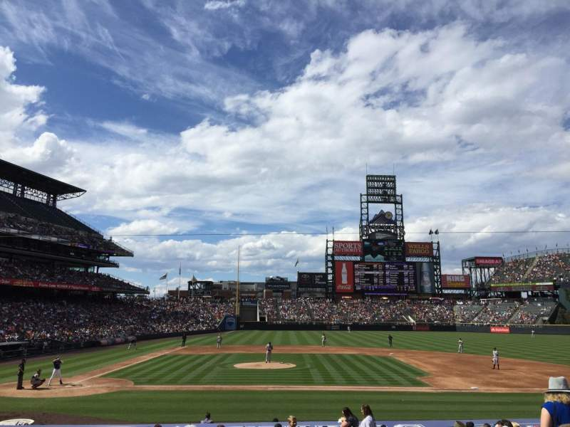 Seating view for Coors Field Section 124 Row 22 Seat 6