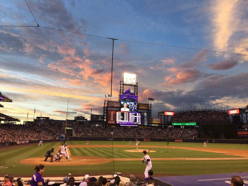 Seating view for Coors Field Section 126 Row 9 Seat 4