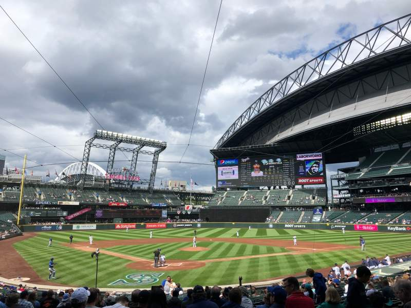 Seating view for T-mobile Park Section 128 Row 26 Seat 11