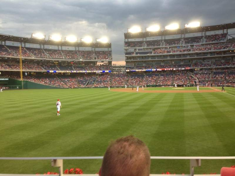 Seating view for Nationals Park Section 105 Row B Seat 5