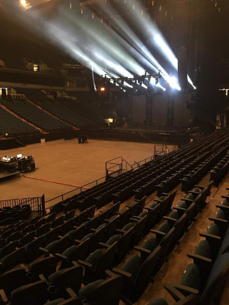 Seating view for U.S. Bank Theater at Target Center Section 136 Row M Seat 13