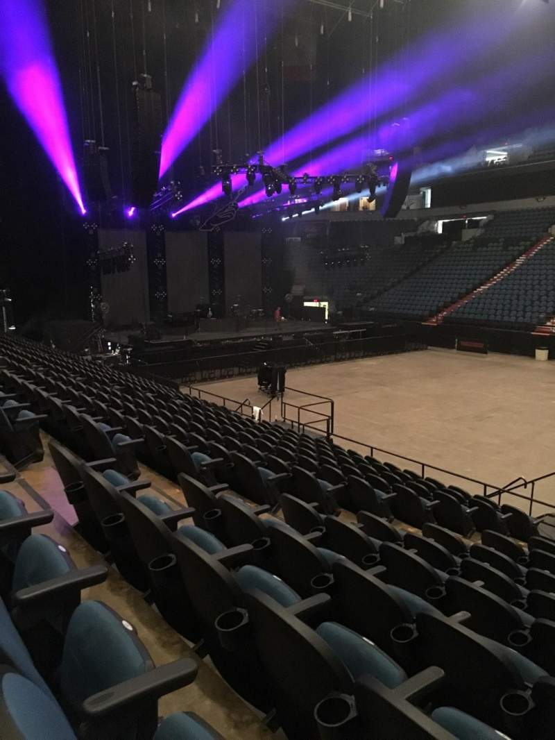 Seating view for U.S. Bank Theater at Target Center Section 109 Row M Seat 7