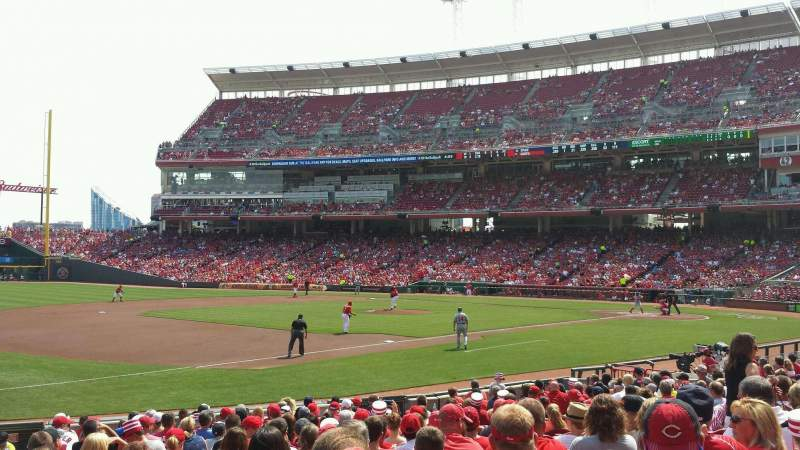 Seating view for Great American Ball Park Section 113 Row T Seat 17