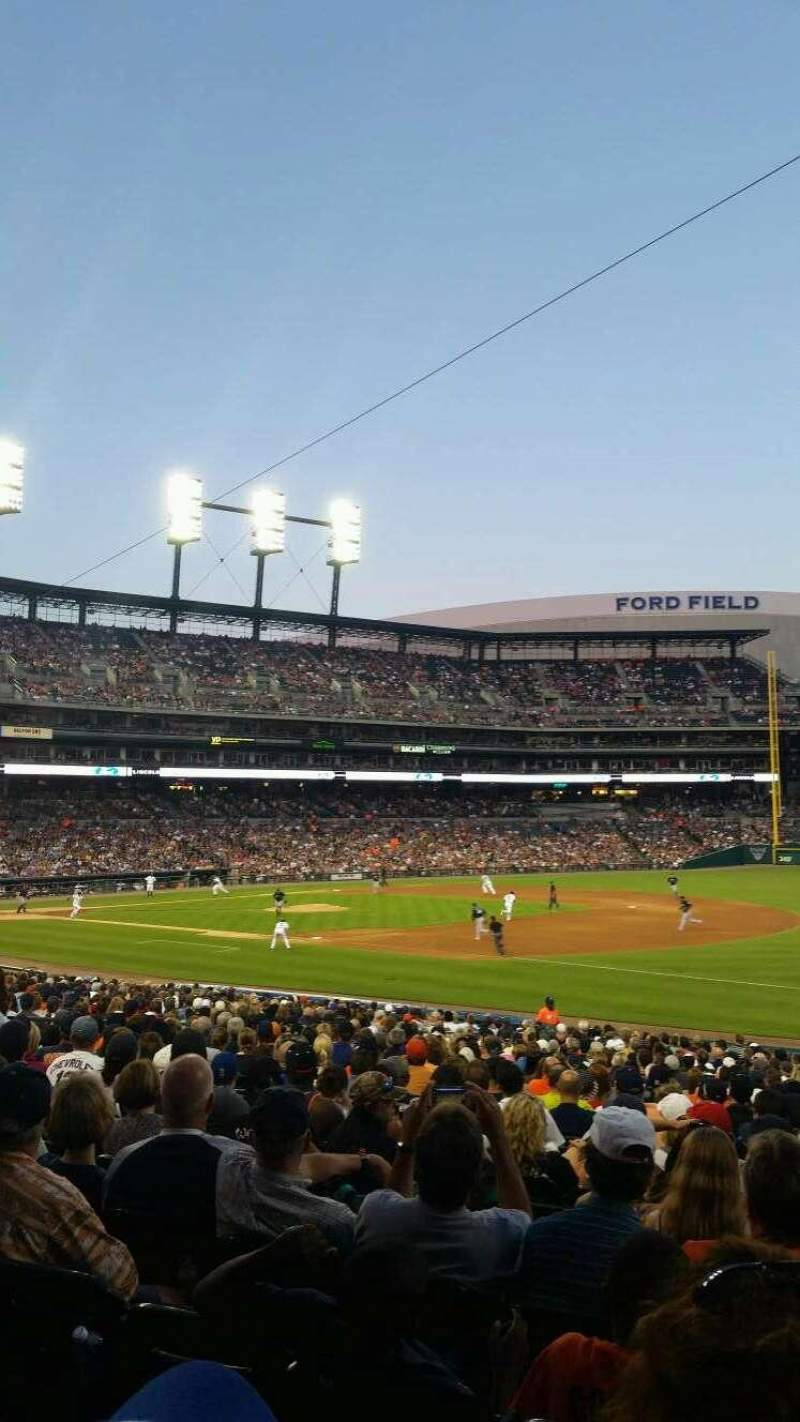 Seating view for Comerica Park Section 117 Row 32 Seat 1
