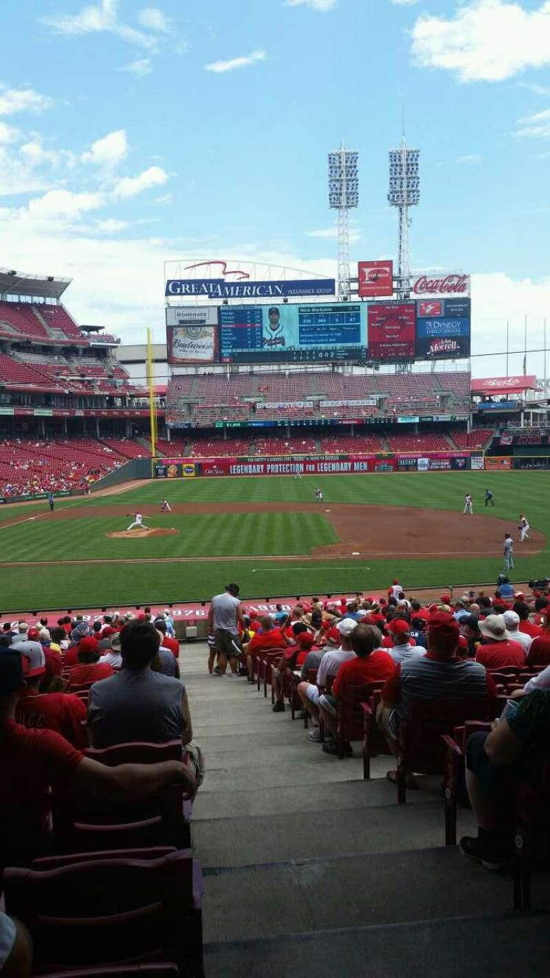 Seating view for Great American Ball Park Section 129 Row JJ Seat 1