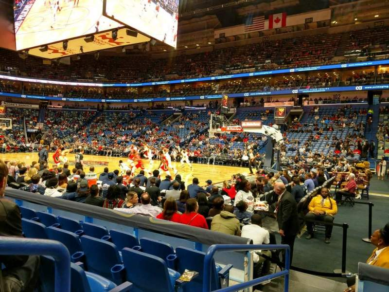 Seating view for Smoothie King Center Section 110 Row 8 Seat 5