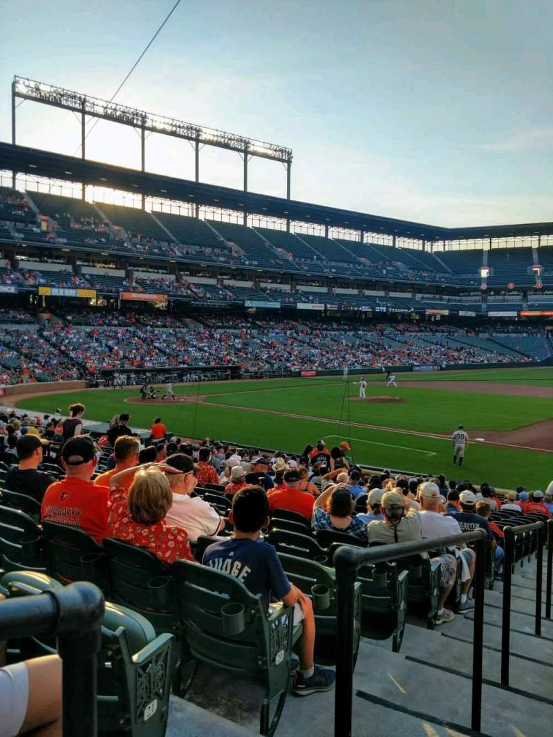 Seating view for Oriole Park at Camden Yards Section 16 Row 23 Seat 16
