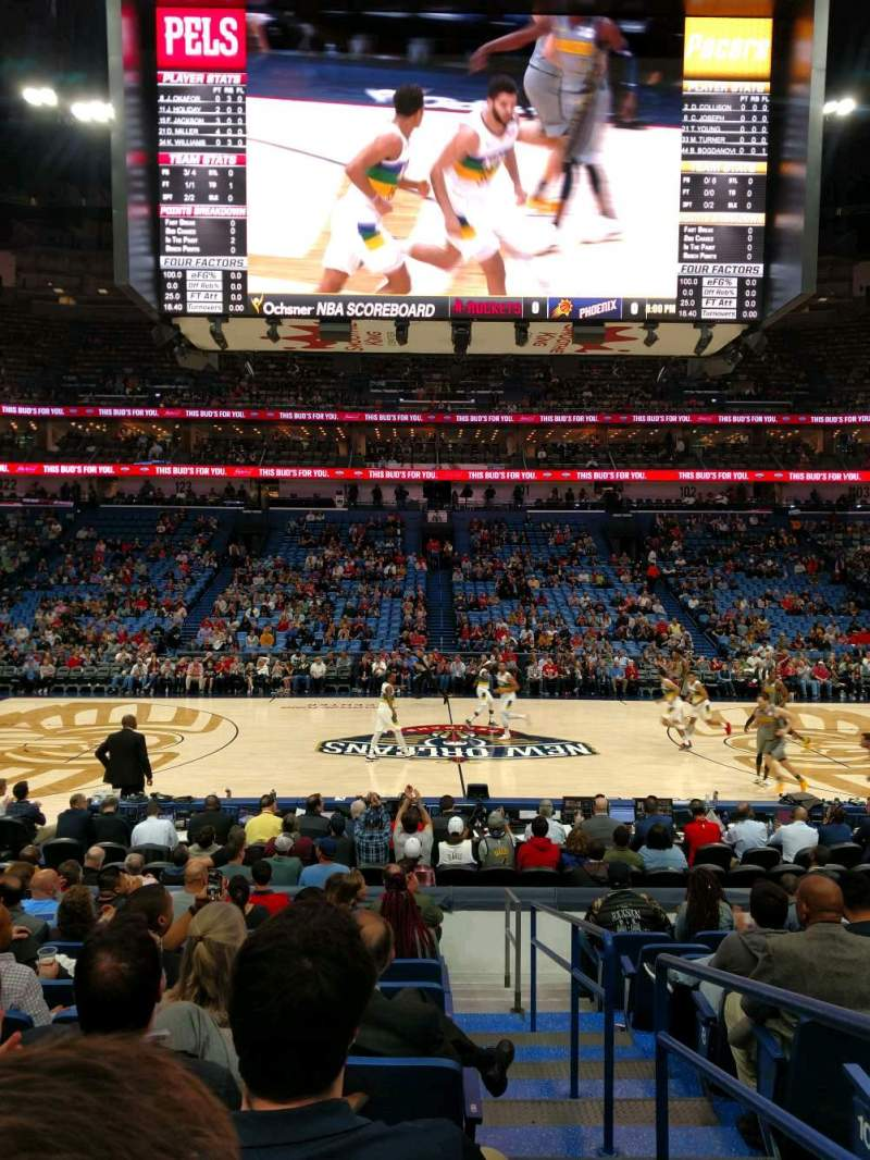 Seating view for Smoothie King Center Section 113 Row 14 Seat 1