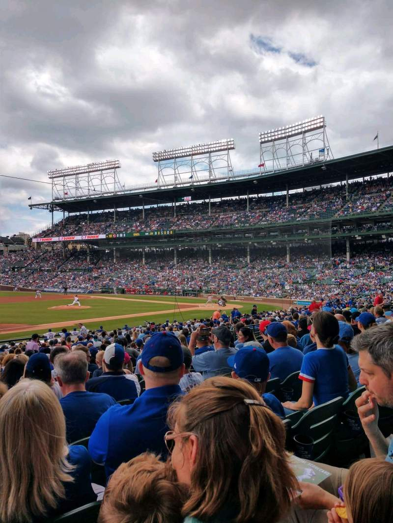 Seating view for Wrigley Field Section 110 Row 14 Seat 1