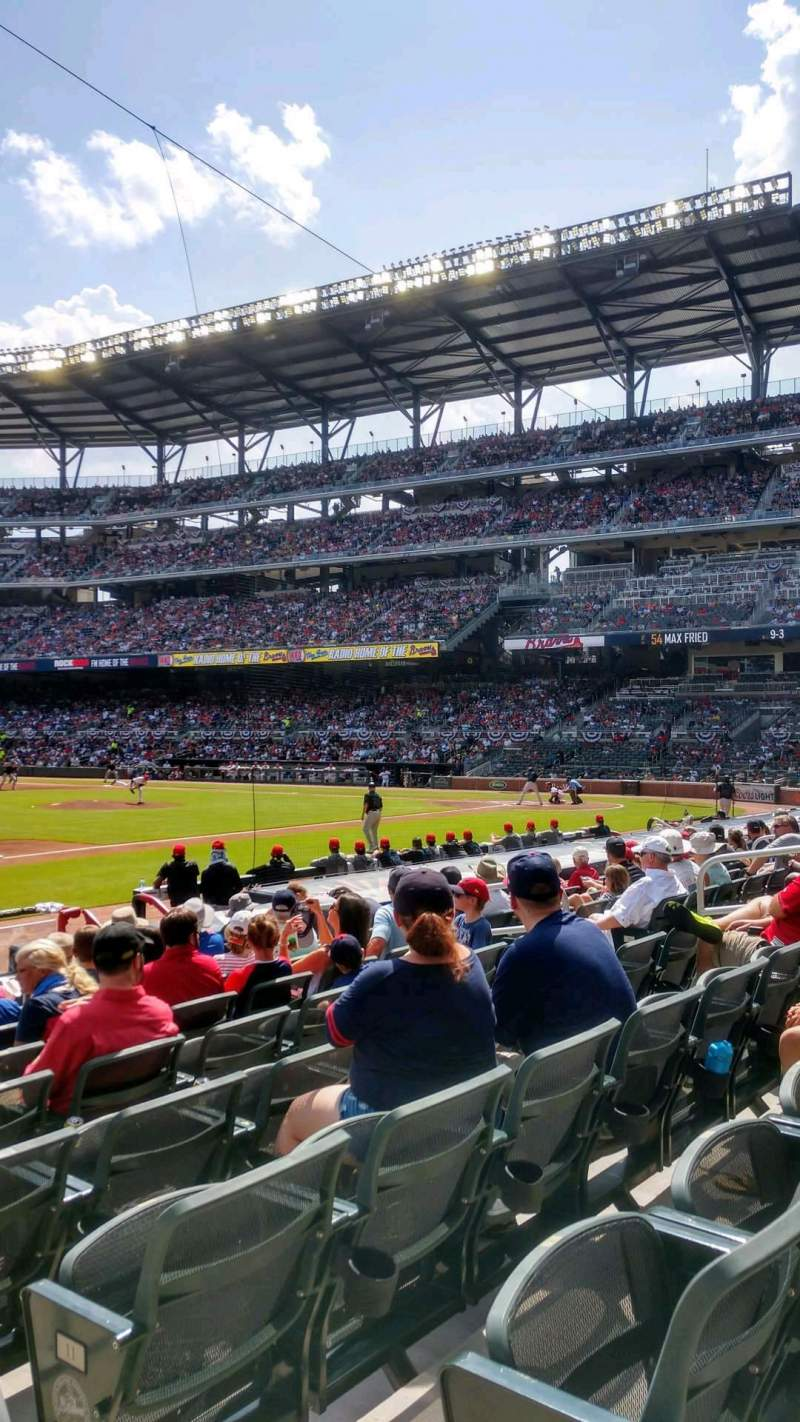 Seating view for SunTrust Park Section 36 Row 13 Seat 1
