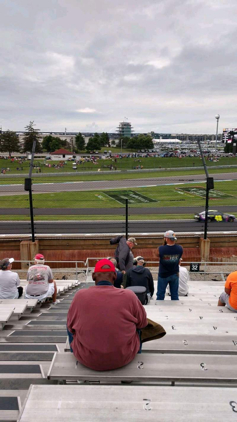 Seating view for Indianapolis Motor Speedway Section 32 Row V Seat 1