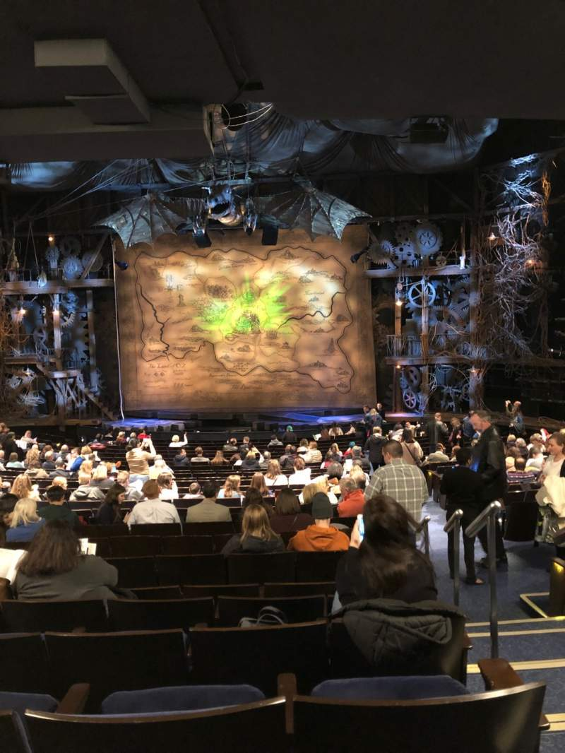 Seating view for Gershwin Theatre Section Orchestra C Row W Seat 118