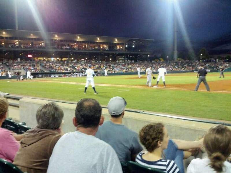 Seating view for Montgomery Riverwalk Stadium Section 118 Row 3 Seat 2