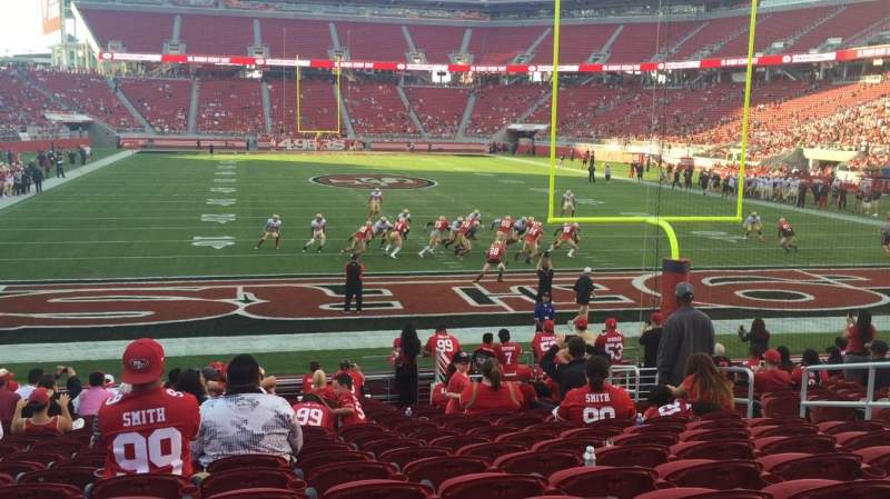 Seating view for Levi's Stadium Section 128 Row 16 Seat 8