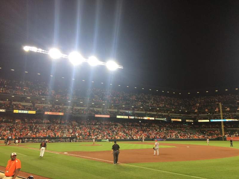 Seating view for Oriole Park at Camden Yards Section 14 Row 3 Seat 1