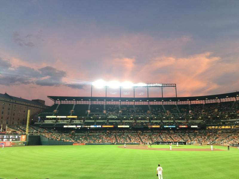 Seating view for Oriole Park at Camden Yards Section 80 Row 14 Seat 16