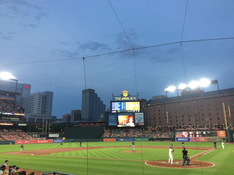 Oriole Park At Camden Yards Section 42 Row 12 Seat 6