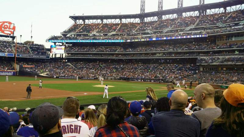 Seating view for Citi Field Section 124 Row 12 Seat 8