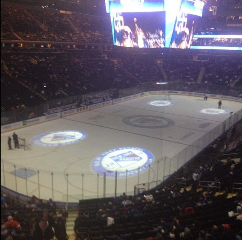 Seating view for Madison Square Garden Section 220 Row 1 Seat 1
