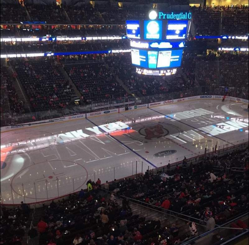 Seating view for Prudential Center Section 109 Row 1 Seat 19