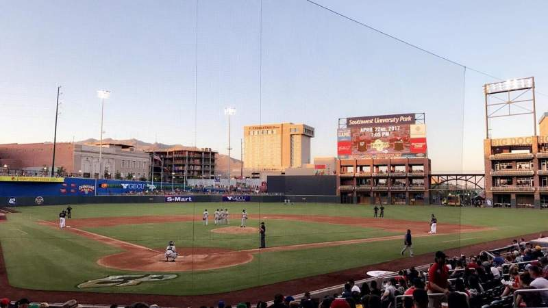 Seating view for Southwest University Park Section 111 Row P Seat 12-12