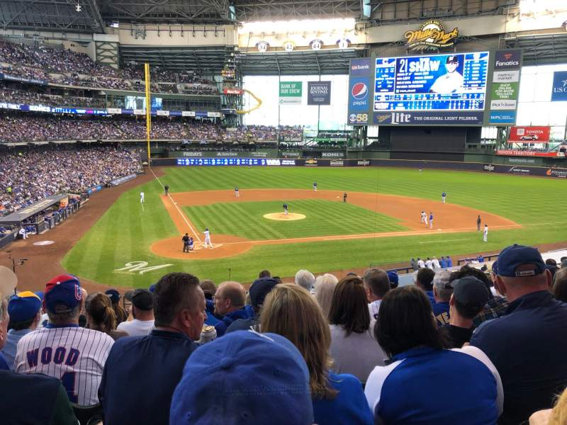 Seating view for American Family Field Section 216 Row 9 Seat 8