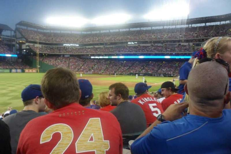 Seating view for Globe Life Park in Arlington Section 13 Row 18 Seat 7
