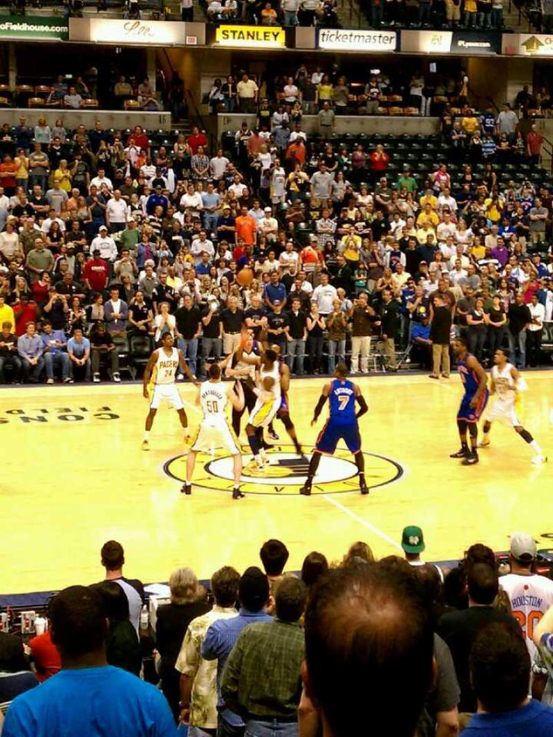 Seating view for Bankers Life Fieldhouse Section 17 Row 8 Seat 9-10
