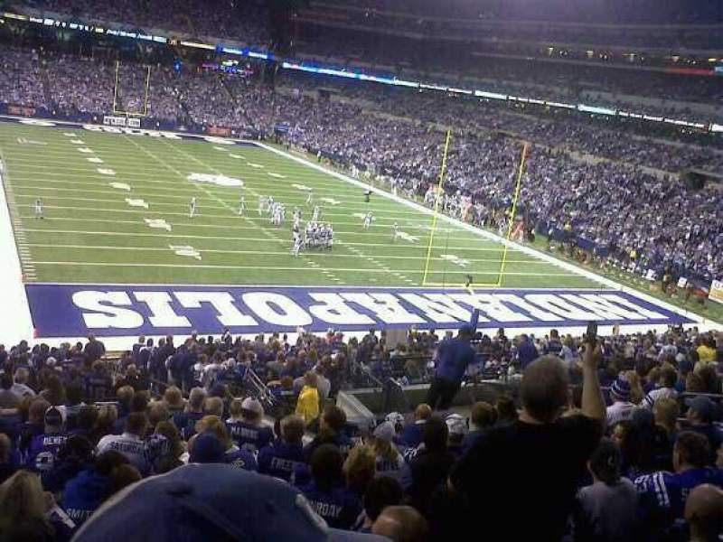 Seating view for Lucas Oil Stadium Section End Zone Row 21