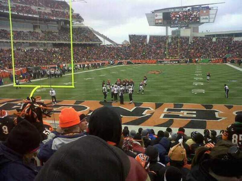 Seating view for Paul Brown Stadium Section End zone Row 20
