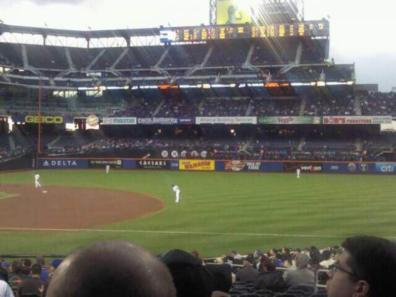 Seating view for Citi Field Section 111 Row 18 Seat 6
