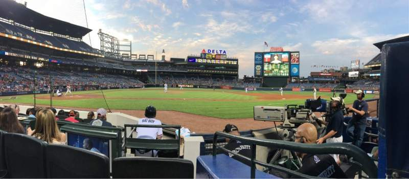 Seating view for Turner Field Section 107 Row 5 Seat 8