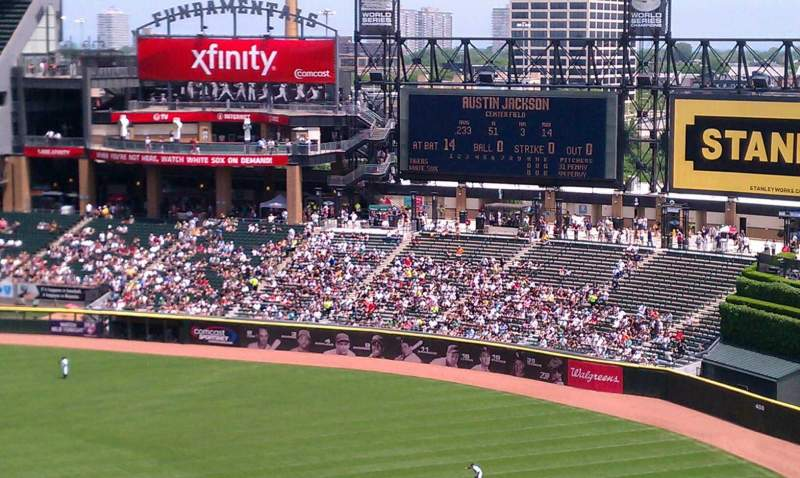 Seating view for U.S. Cellular Field Section 540 Row 5 Seat 7