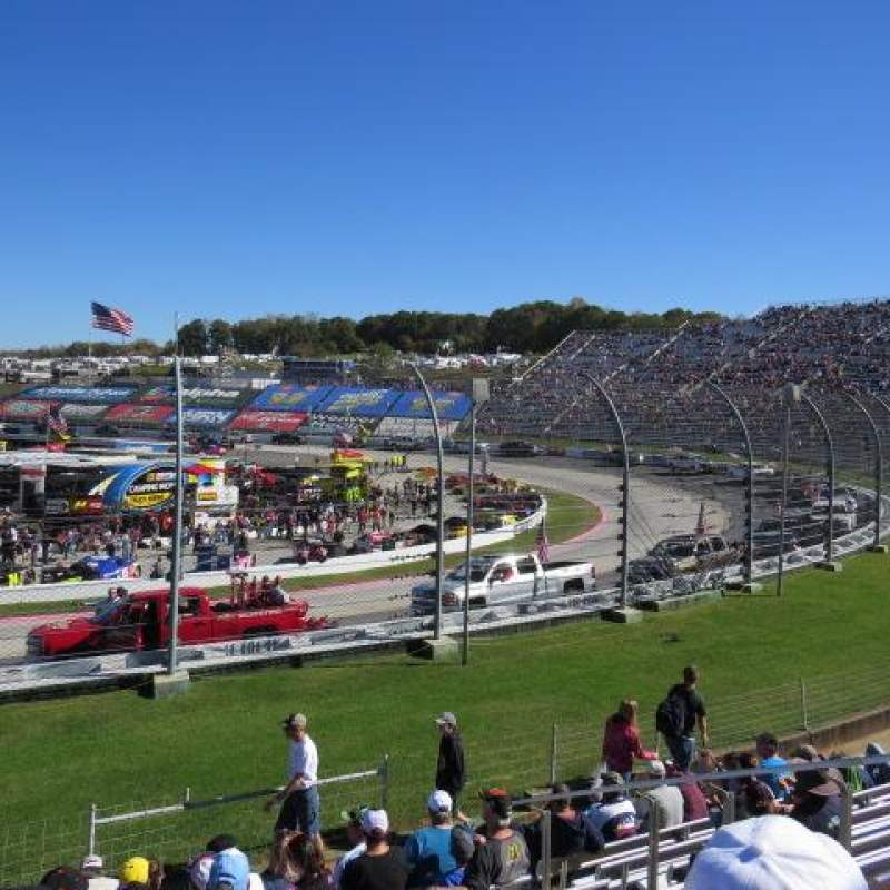Seating view for Martinsville Speedway Section Sprint Tower DD Row 10 Seat 8
