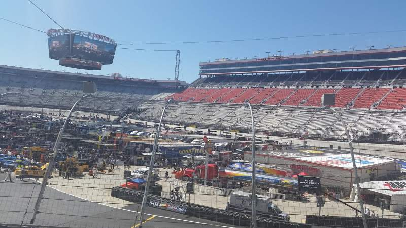 Seating view for Bristol Motor Speedway Section Person Row 12 Seat 7