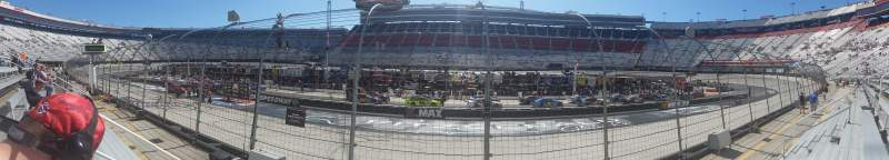 Seating view for Bristol Motor Speedway Section The allisons Row 1 Seat 3