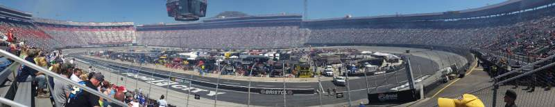 Seating view for Bristol Motor Speedway Section Junior johnson Row 12 Seat 9