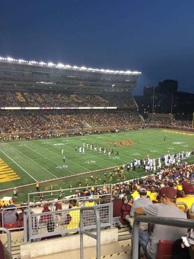 TCF Bank Stadium, section: 216, row: 11, seat: 1