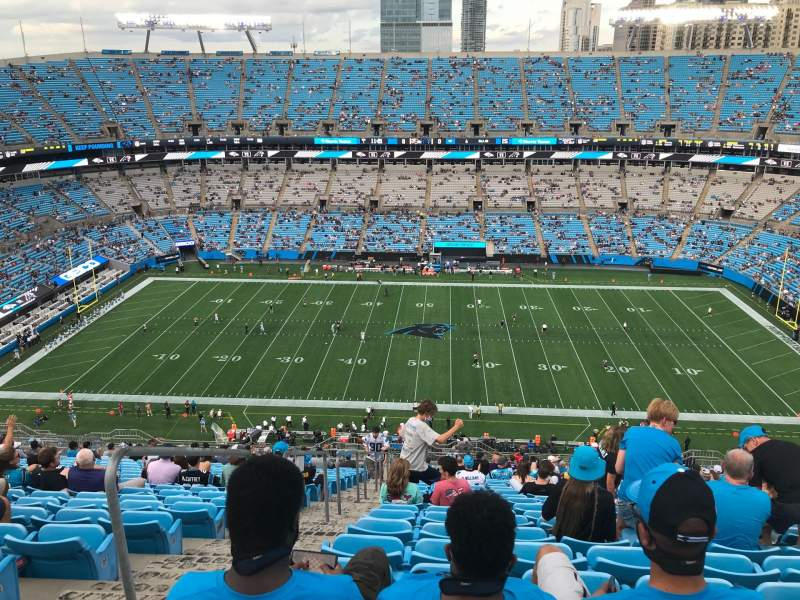 Seating view for Bank of America Stadium Section 541 Row 25 Seat 23