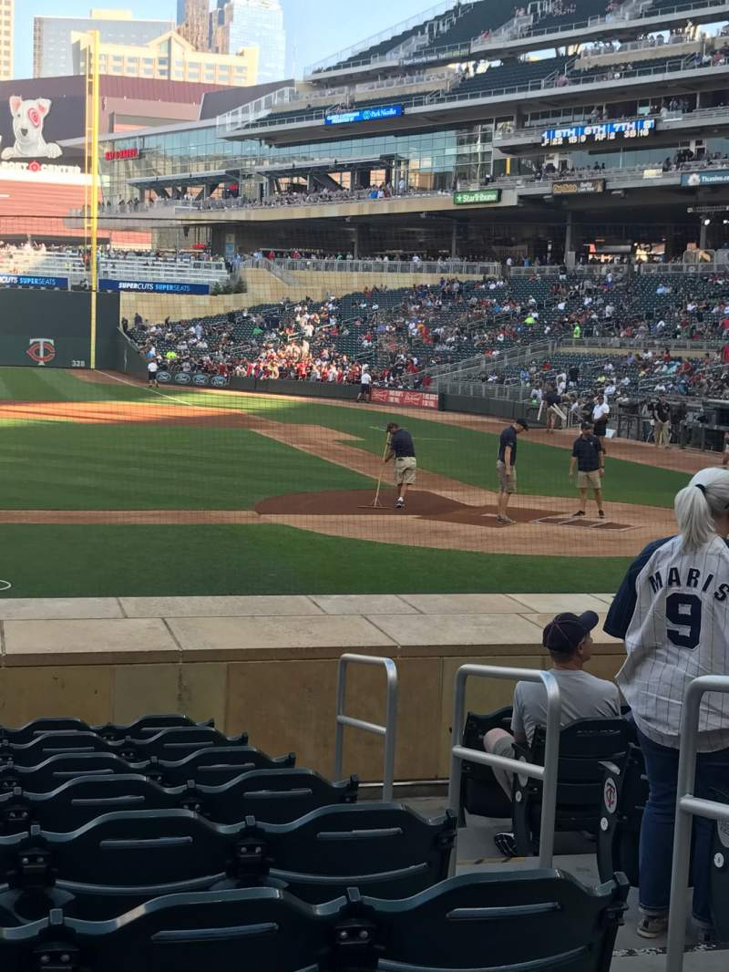 Seating view for Target Field Section 12 Row 13 Seat 3