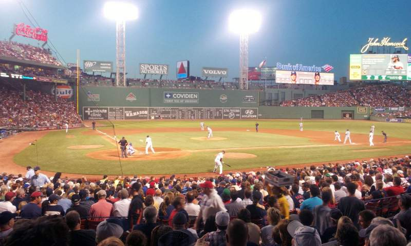 Seating view for Fenway Park Section Loge Box 125 Row HH Seat 8