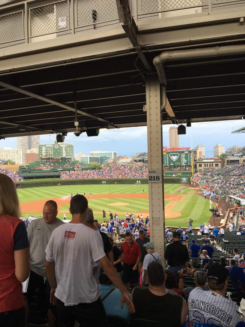 Seating view for Wrigley Field Section 218 Row 15 Seat 4