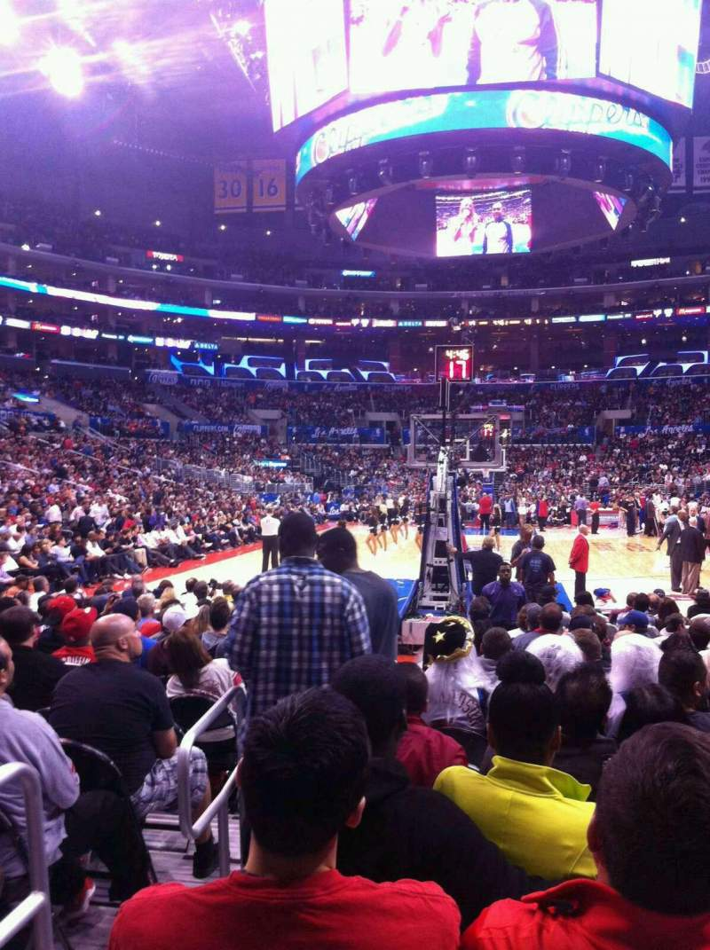 Seating view for Staples Center Section 106 Row 2 Seat 14