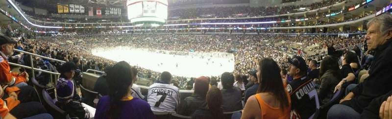 Seating view for Staples Center Section PR11 Row 8 Seat 9