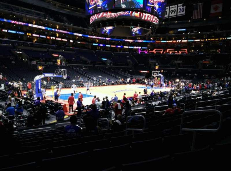 Seating view for Staples Center Section 104 Row 15 Seat 6