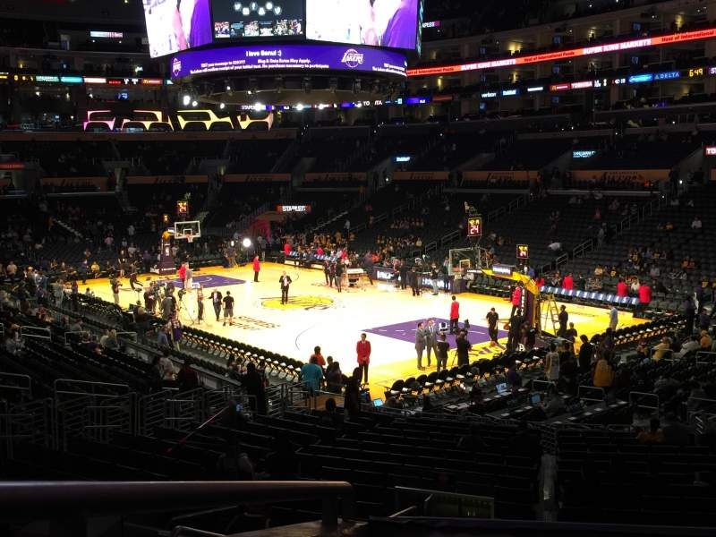 Seating view for Staples Center Section PR10 Row 3 Seat 2