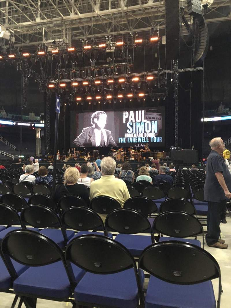 Seating view for Greensboro Coliseum Section C Row 25 Seat 12
