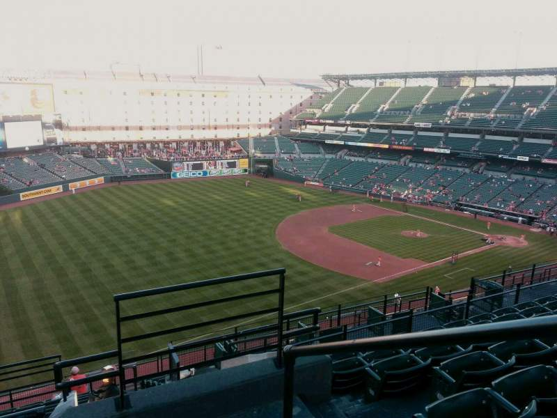 Seating view for Oriole Park at Camden Yards Section 368 Row 15 Seat 1
