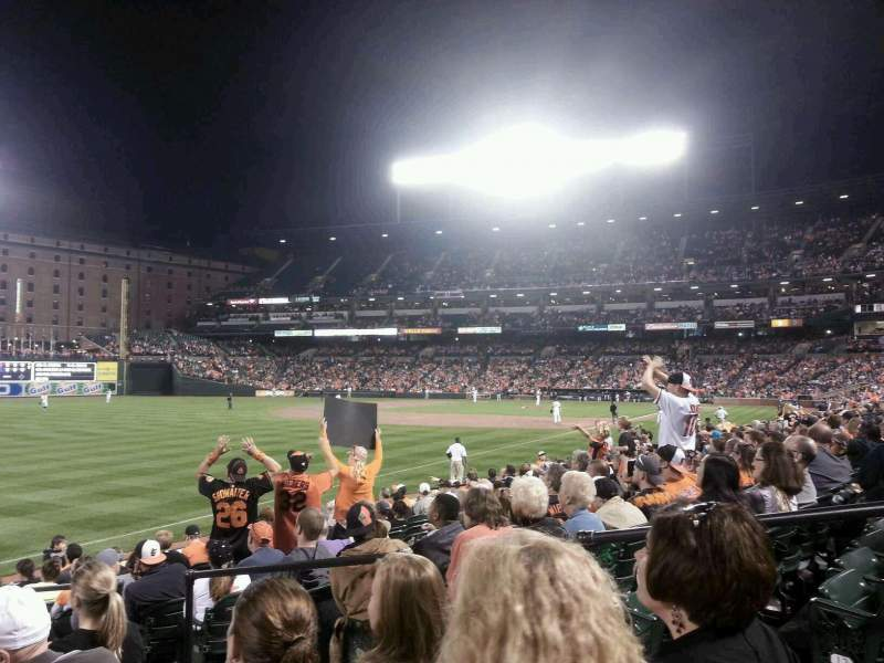 Seating view for Oriole Park at Camden Yards Section 67 Row 13 Seat 4